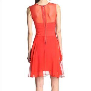BCBGMaxAzria Dresses - BCBG Ponte Silk Red Sleeveless Dress